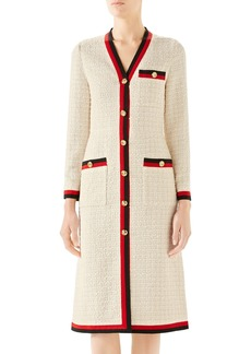 Gucci Ribbon Trim Tweed Dress
