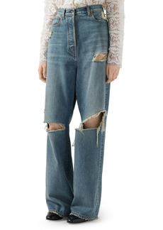 Gucci Ripped Eco Washed Organic Cotton Jeans