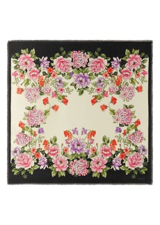 Gucci Rising Flowers Square Shawl