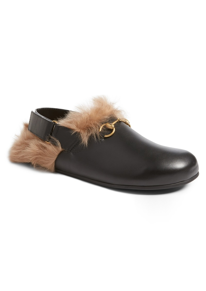3b89db99c Gucci Gucci River Sling Genuine Shearling Slide Slipper (Men) | Shoes