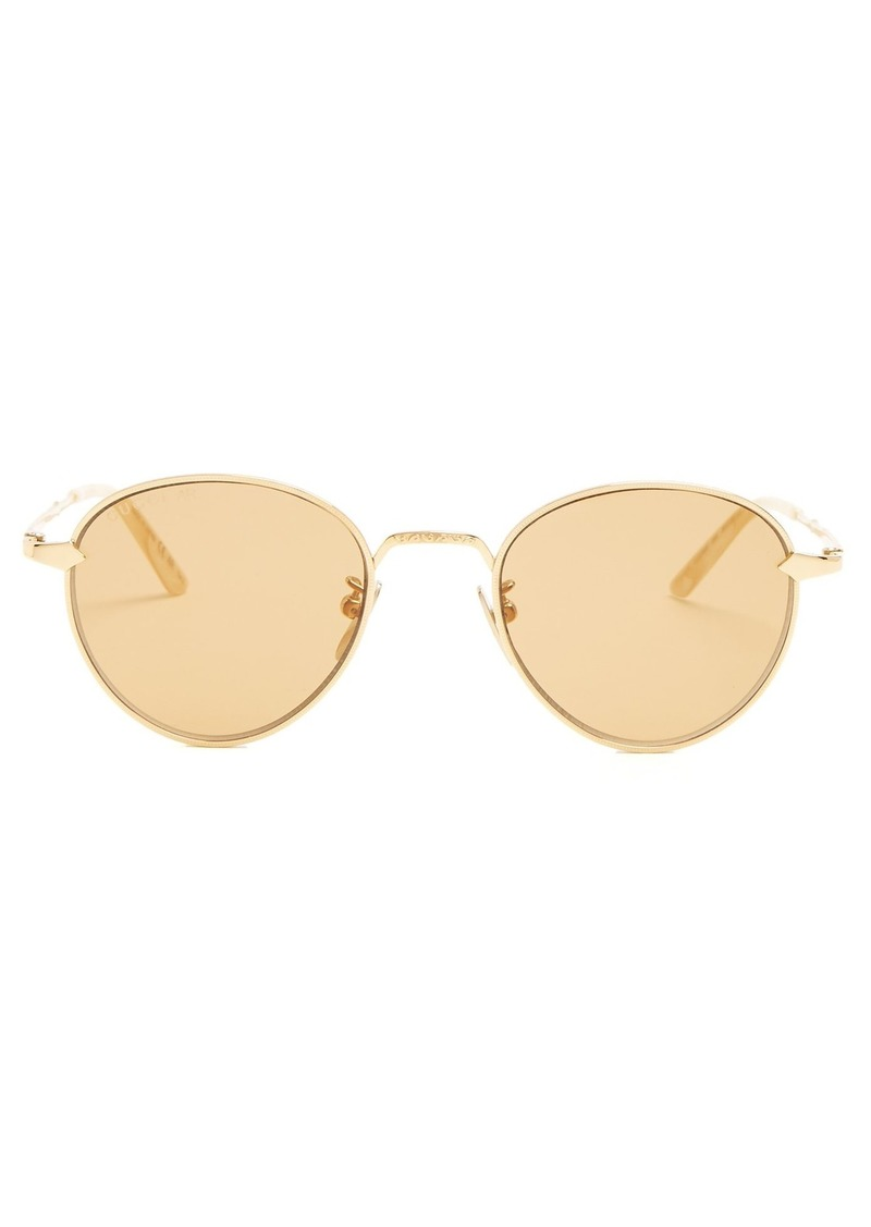 7a548c9c1f Gucci Gucci Round-frame metal sunglasses
