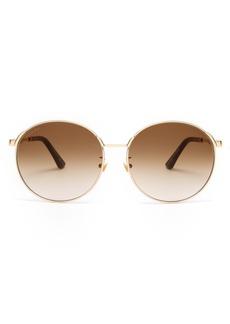 Gucci Round-frame web-striped sunglasses