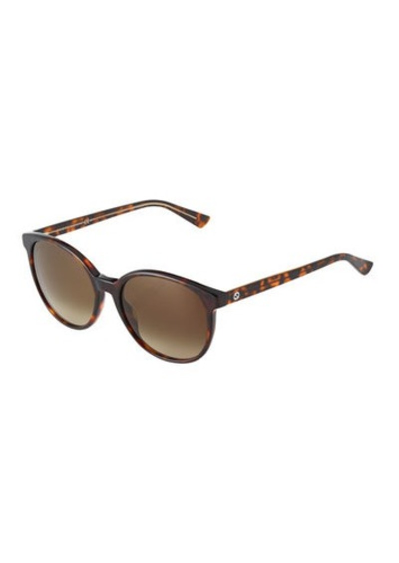681d96dbba Gucci Gucci Round Havana Plastic Sunglasses