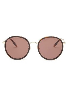Gucci Round tortoiseshell-effect metal sunglasses