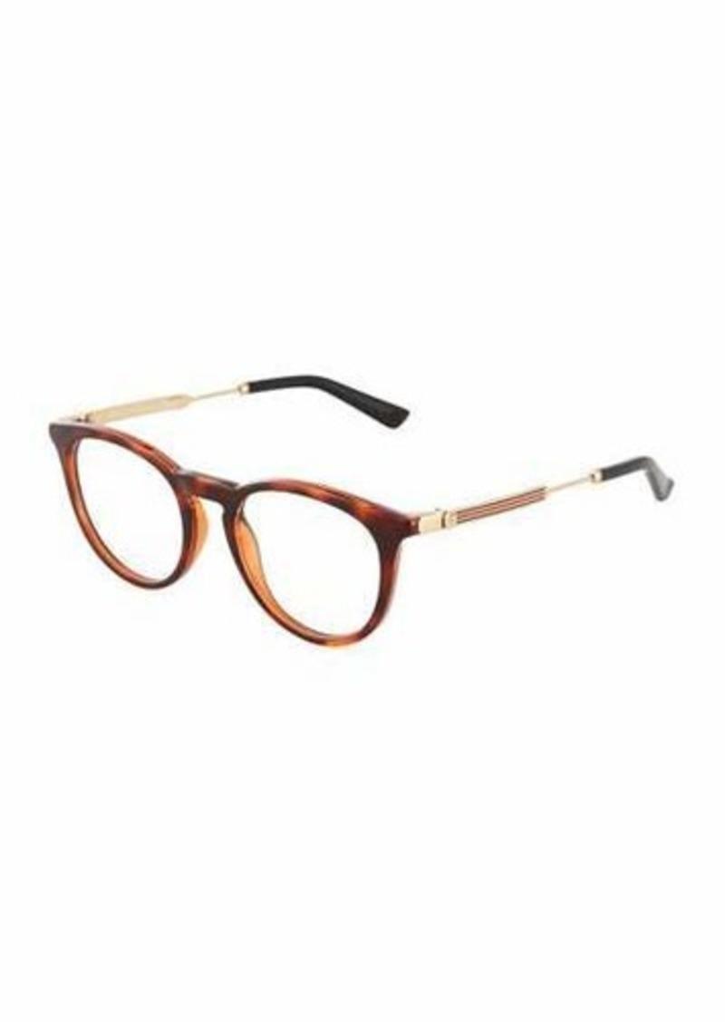 0dc47c4f01 Gucci Gucci Round Tortoiseshell Optical Glasses