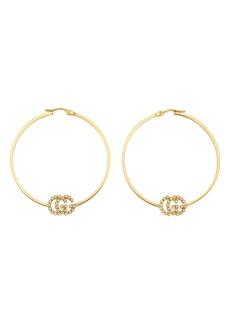Gucci Running G Diamond Hoop Earrings