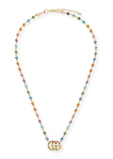 Gucci Running G Necklace with Topaz  Citrine & Sapphire