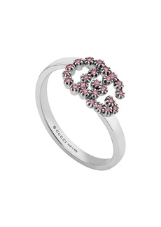 Gucci Running G Pink Topaz Ring