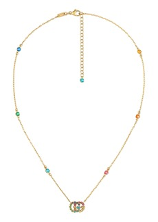 Gucci Running-G Semiprecious Stone Pendant Necklace