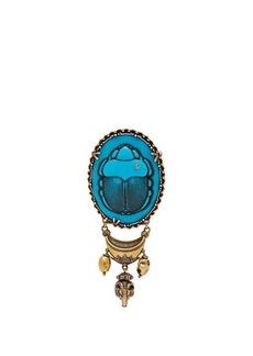 Gucci Scarab cameo brooch