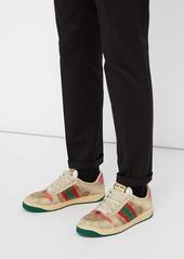 99f7b14d2d6 ... Gucci Screener GG Supreme leather trainers ...