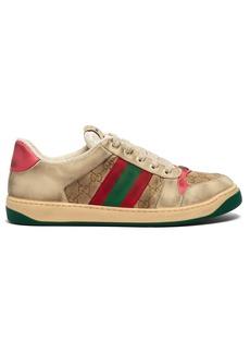 Gucci Screener GG Supreme leather trainers