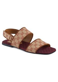 Gucci Senior GG Canvas Sandal (Men)