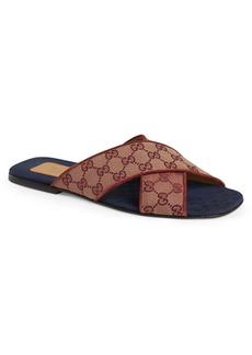 Gucci Senior GG Canvas Slide Sandal (Men)