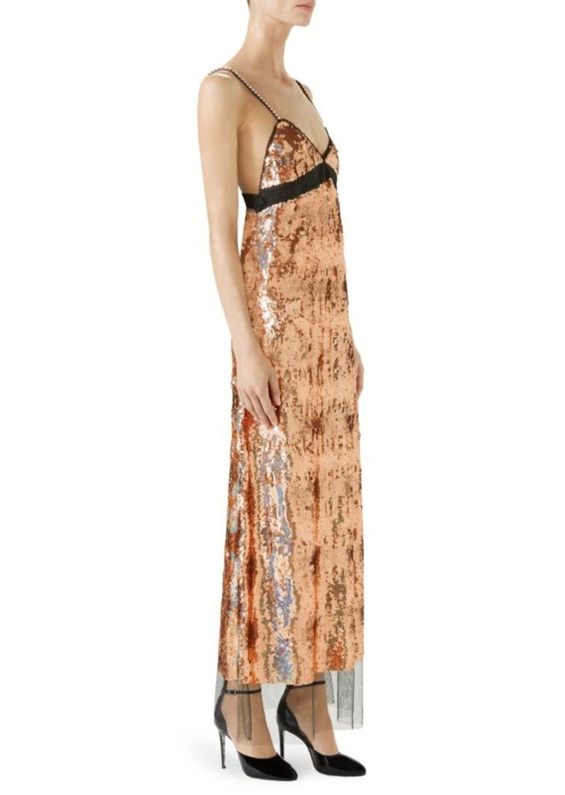 9fc3f8ff001 Gucci Sequin Embroidered Tulle Dress