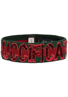 green and red sequin Guccification headband