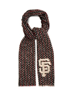 Gucci SF sequin-embellished tweed scarf