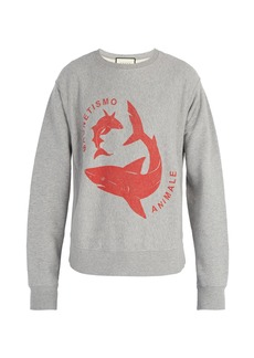 Gucci Shark-print cotton sweatshirt