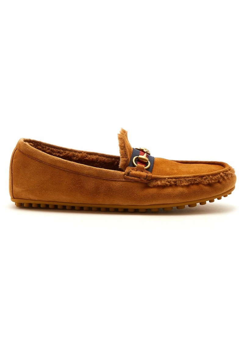 Shearling-lined driving loafers Gucci AHBFvLegsV