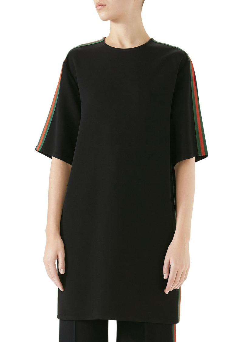 Gucci Side Stripe Cady Tunic Dress