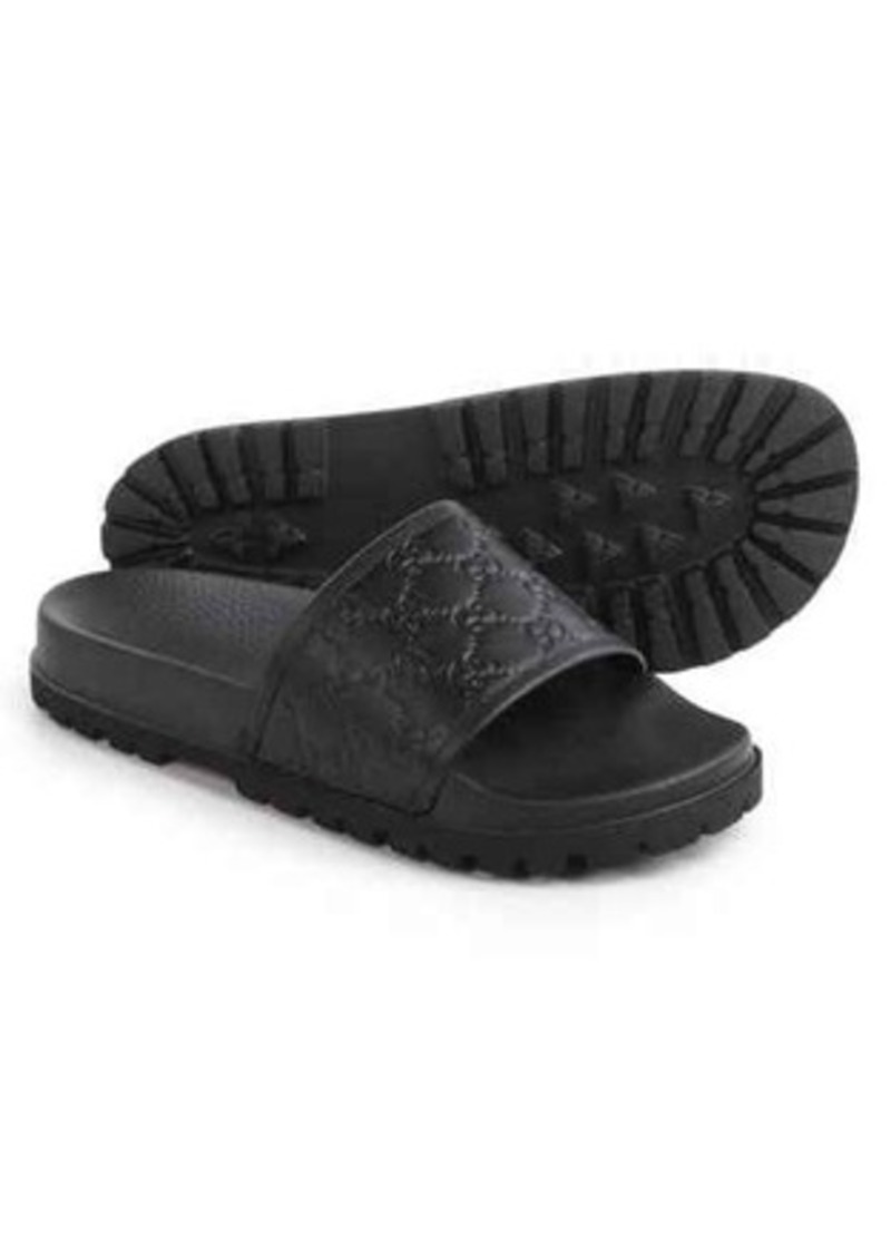 432c4d441e85 Gucci Gucci Signature Slide Sandals - Leather (For Men)
