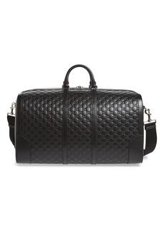 Gucci Signature Strap Leather Duffel