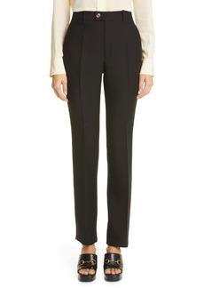 Gucci Silk & Wool Cady Crepe Straight Leg Pants
