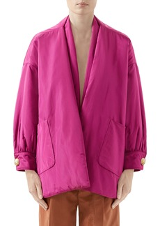 Gucci Silk Taffeta Jacket with Removable Scarf