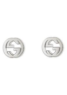 Gucci Silver Interlocking-G Stud Earrings
