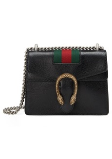 Gucci Small Dionysus House Web Leather Shoulder Bag