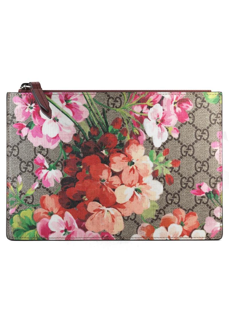 2ea604698f3 Gucci Gucci Small GG Blooms Canvas   Leather Pouch