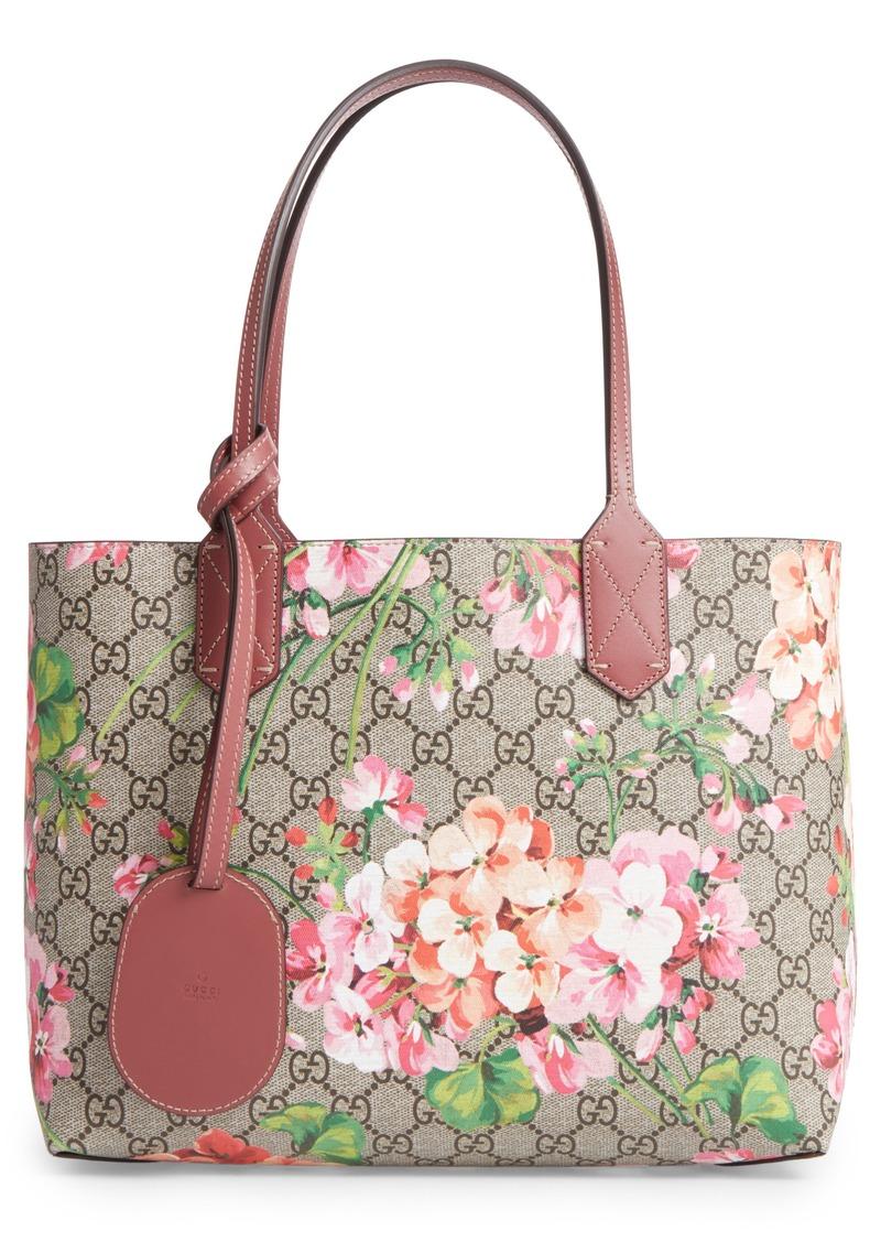 Gucci Gucci Small GG Blooms Reversible Canvas   Leather Tote  d1da99b2393ad