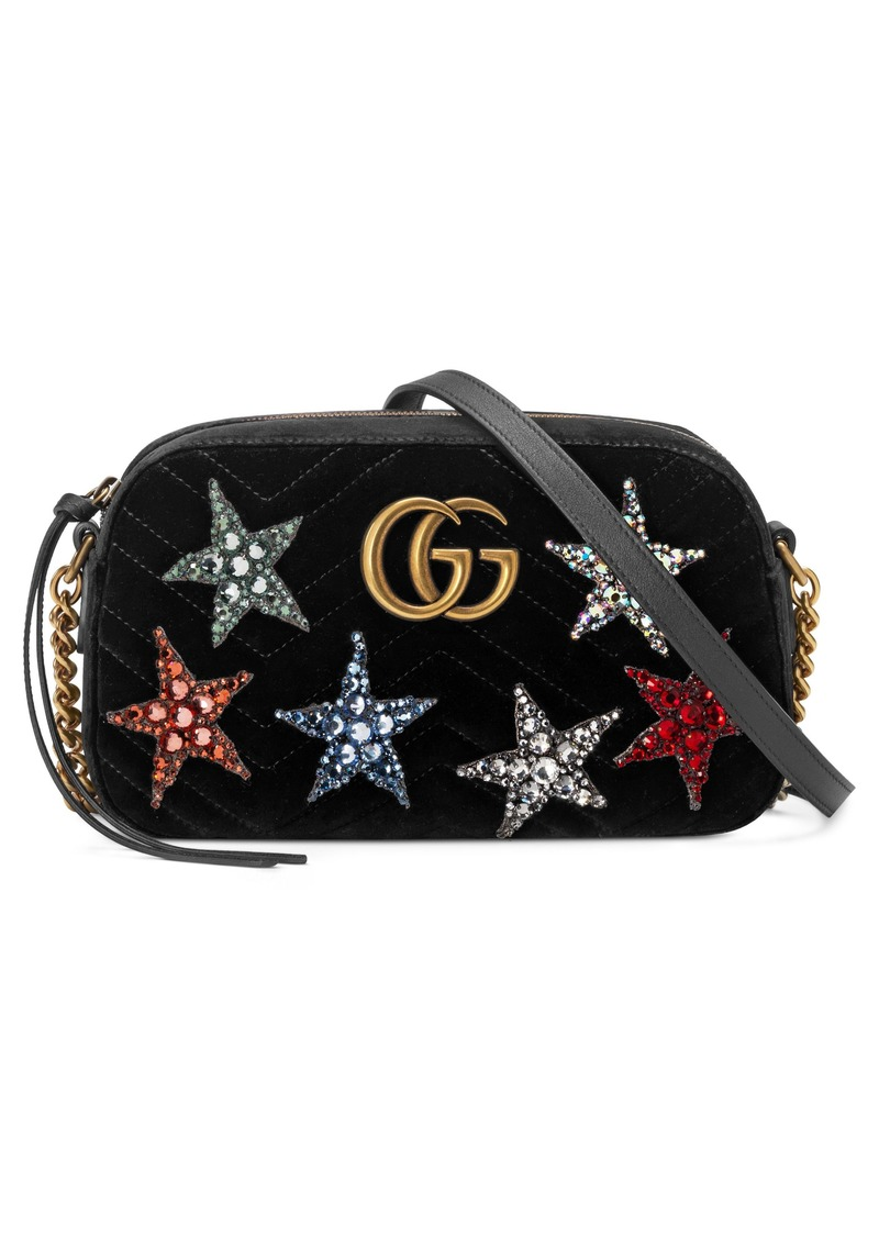 f0848352390b8b Gucci Gucci Small GG Marmont 2.0 Crystal Stars Velvet Shoulder Bag ...