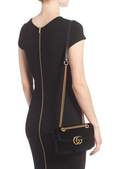 ca50fef5be35 Gucci Gucci Small GG Marmont 2.0 Matelassé Velvet Shoulder Bag ...