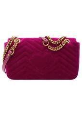 aacca973274 Gucci Gucci Small GG Marmont 2.0 Matelassé Velvet Shoulder Bag ...
