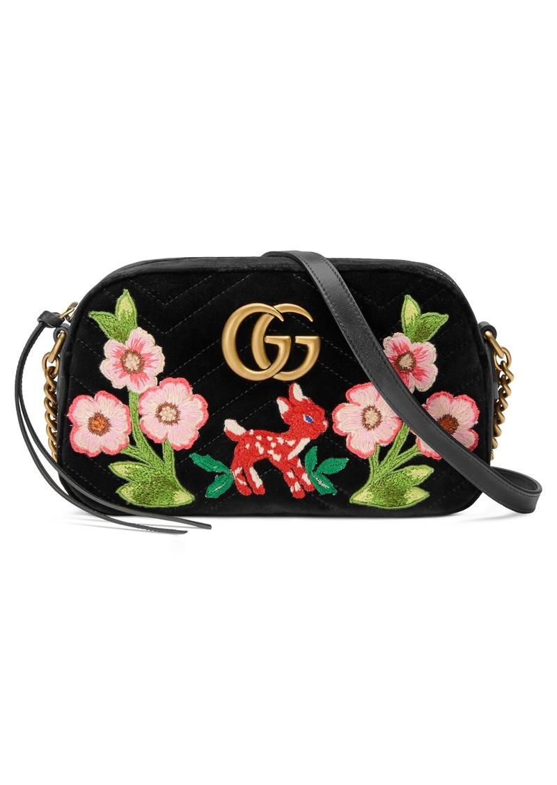 b0c7cfb6 Small GG Marmont 2.0 Matelassé Velvet Shoulder Bag