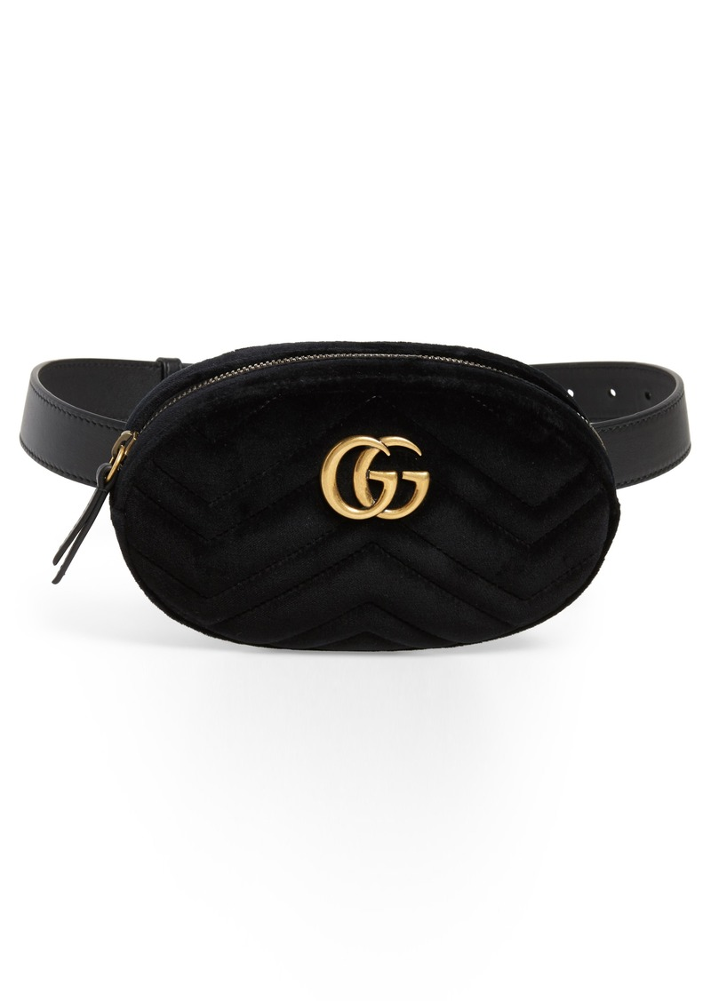 4052d8ea349 Small GG Marmont 2.0 Velvet Belt Bag