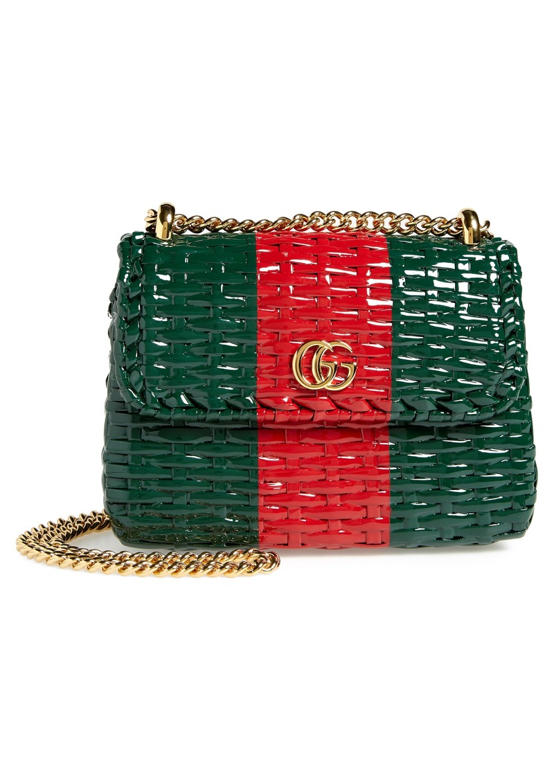 6e7173db4 Gucci Gucci Small Linea Cestino Glazed Wicker Shoulder Bag | Handbags