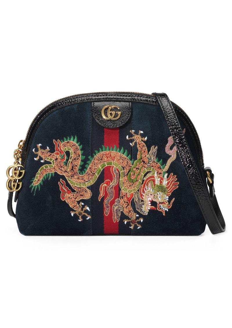 89790f9631d Gucci Gucci Small Linea Dragon Embroidered Shoulder Bag