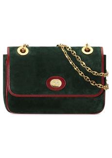 Gucci Small Marina Suede Shoulder Bag