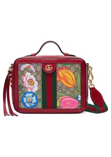 Gucci Small Ophidia Flora GG Supreme Canvas Shoulder Bag