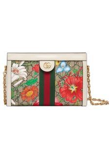 Gucci Small Ophidia Floral GG Supreme Canvas Shoulder Bag