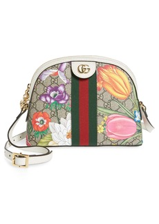 Gucci Small Ophidia Floral GG Supreme Shoulder Bag