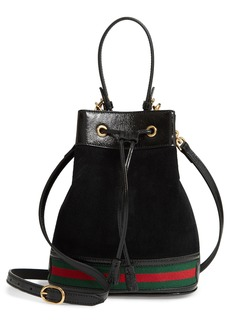Gucci Small Ophidia Suede & Leather Bucket Bag