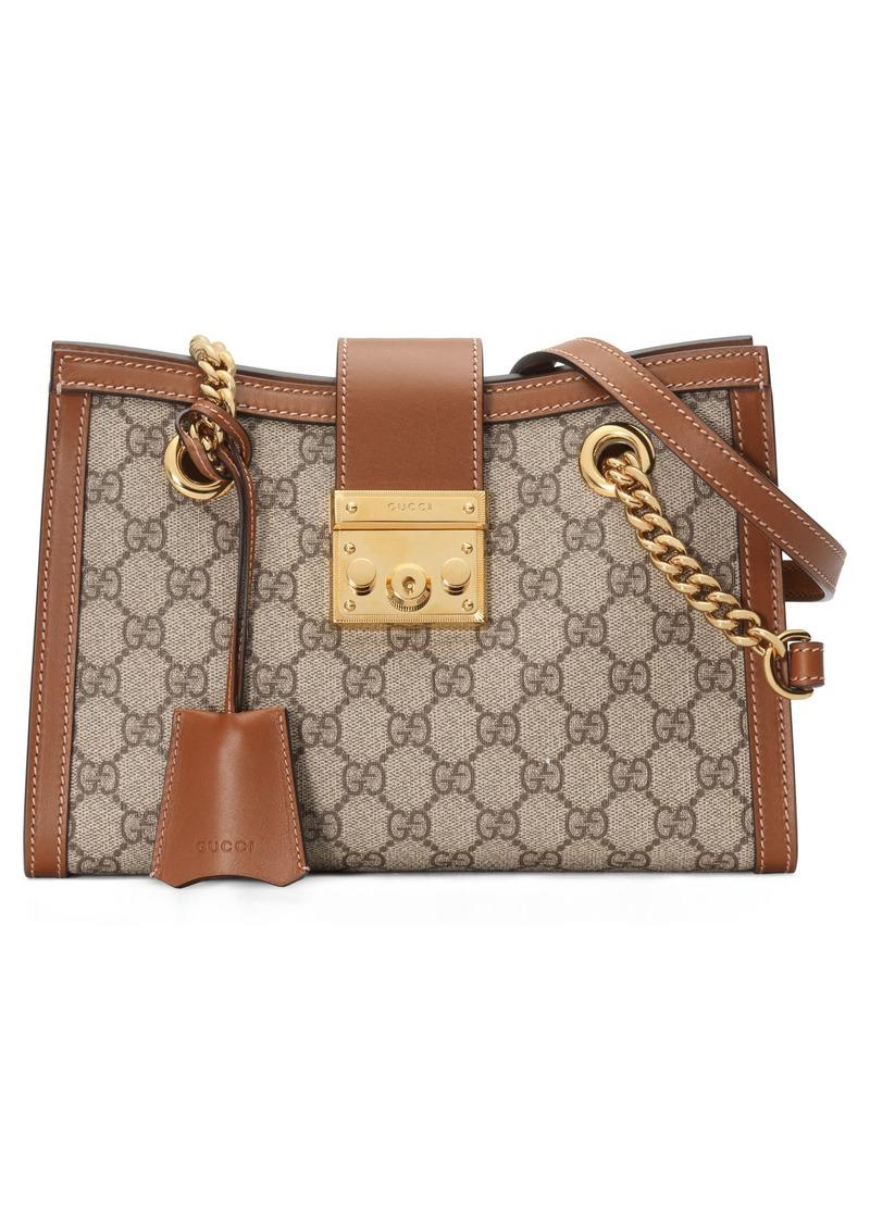 Gucci Small Padlock GG Supreme Shoulder Bag
