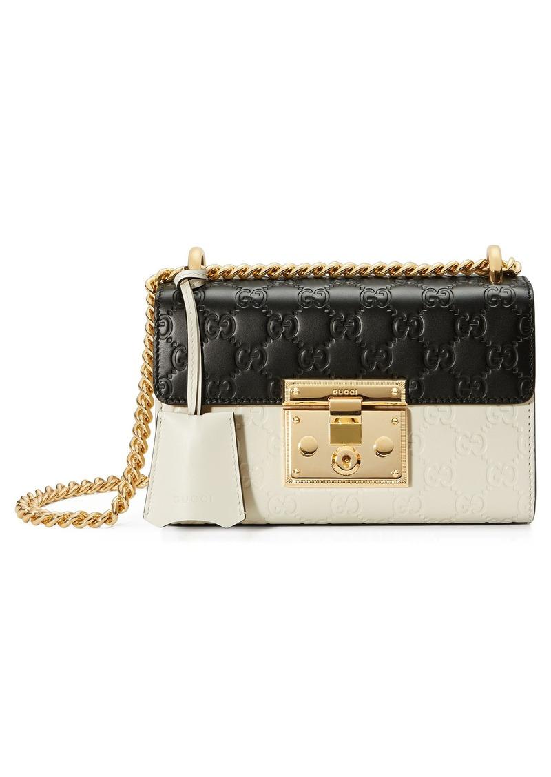 3aac68a72004 Gucci Gucci Small Padlock Signature Leather Shoulder Bag