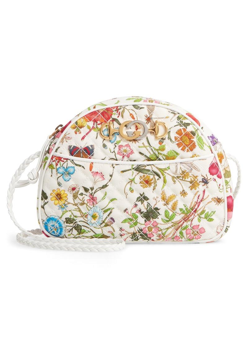 a6d833a2334 Gucci Gucci Small Trapuntata Floral Quilted Crossbody Bag