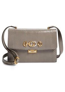 Gucci Small Zumi Genuine Snakeskin Shoulder Bag