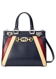 Gucci Small Zumi Tricolor Leather Top Handle Bag