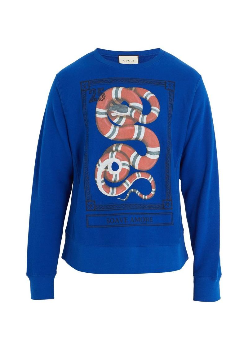 16c45f029e7 Gucci Gucci Snake-print crew-neck sweatshirt